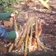 Winter Fire Lighting: Tipi Lay